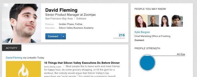 new linkedin profile  job search