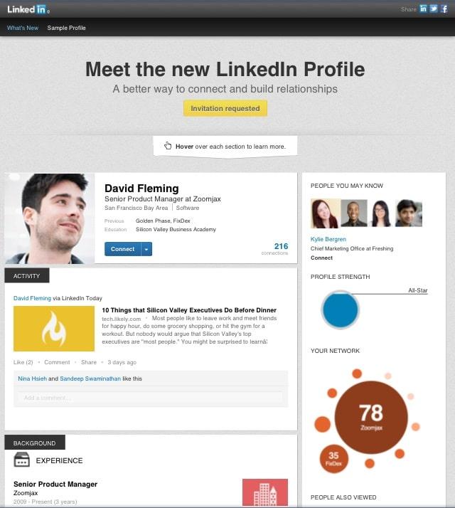 New LinkedIn Profile, Job Search