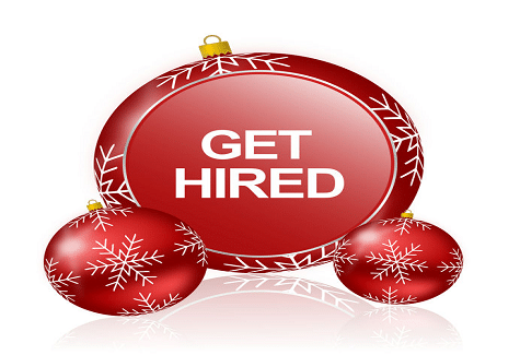 getting hired over the holidays